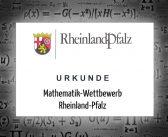 Erneute Erfolge beim Mathematik Wettbewerb Rheinland Pfalz