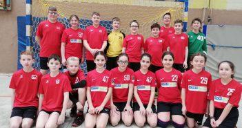 """Zweiter Platz in der Vorrunde beim Schulwettkampf """"Jugend trainiert für Olympia – Handball"""" der Wettkampfklasse IV"""