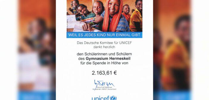 Abiturienten spenden an UNICEF